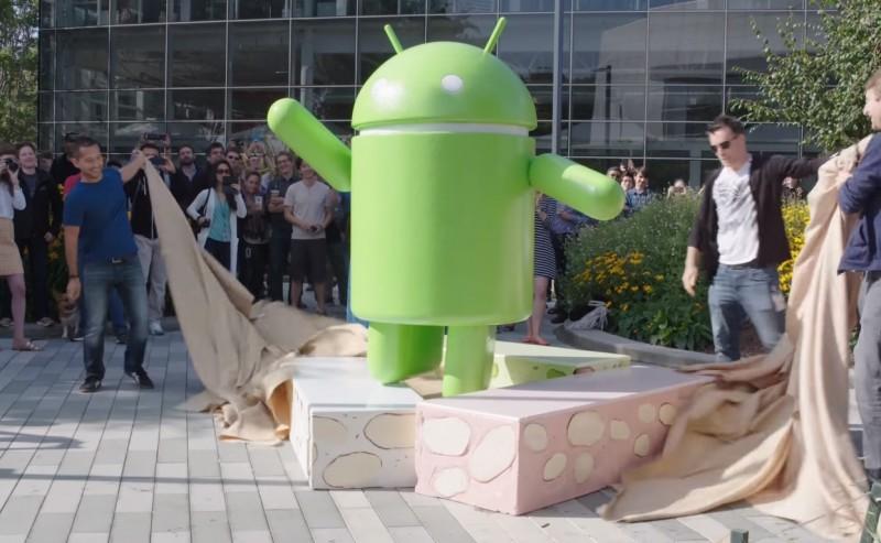 Patung Android Nougat Google Campus