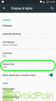 Cara Memperbesar Ukuran Font di Cyanogen