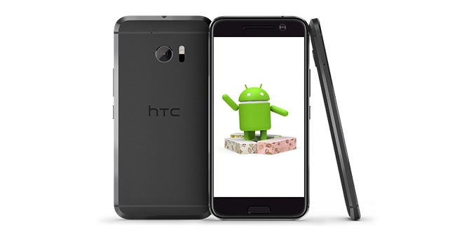 HTC 10 Android Nougat-Ilustrasi
