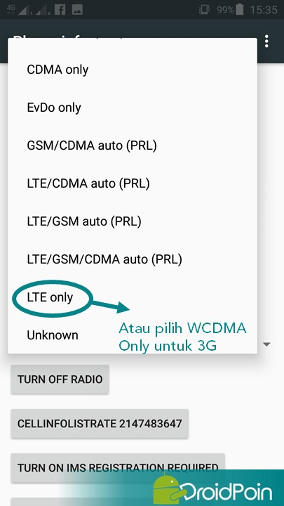 Cara Lock Koneksi 4G di Smartphone Android | DroidPoin