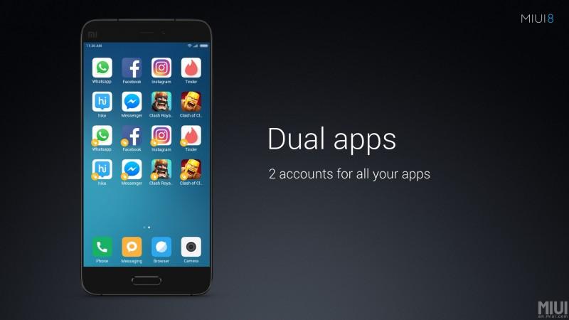 MIUI8-Dual Apps