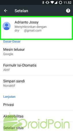 Cara Masuk ke Chrome (Android)
