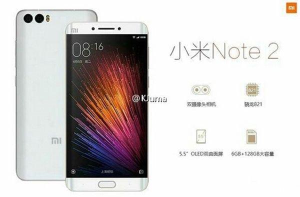 Spesifikasi Xiaomi Mi Note 2 Kembali Terkuak!