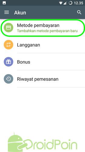 Cara Menambahkan Metode Pembayaran yang Lain di Play Store