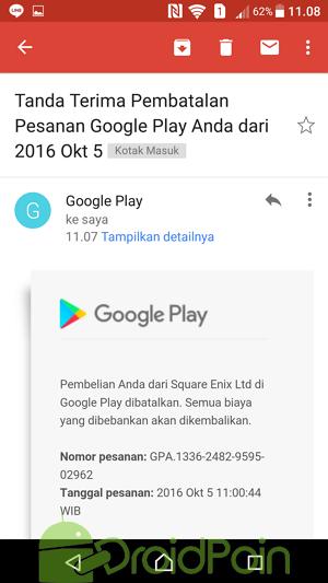 Cara Mendapatkan Refund Pembelian dari Play Store