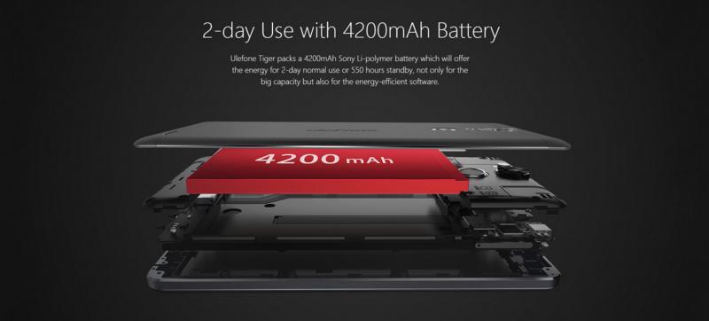 Smartphone Ulefone Tiger dengan Baterai 4200mAh Dijual 1.3 Jutaan
