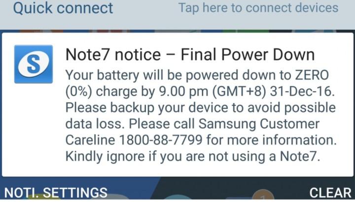 Update Mematikan untuk Galaxy Note 7 Dibagikan Saat Malam Pergantian Tahun?