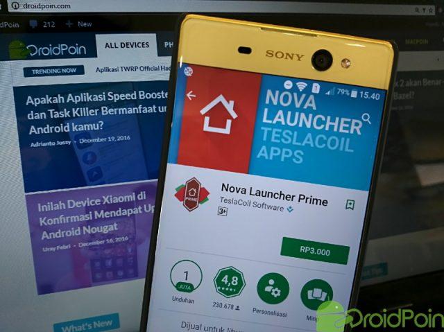 Ayo Segera Beli, Nova Launcher Prime Hanya Rp3.000!