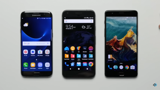 One Plus 3T vs Galaxy S7 vs Pixel XL (2)