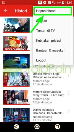Cara Menghapus Riwayat Tontonan di YouTube