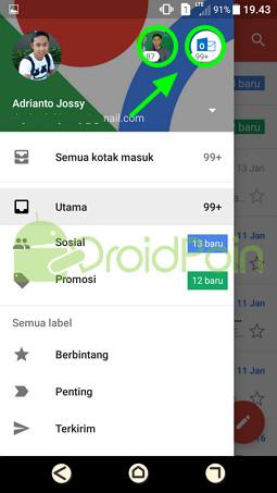 Cara Berpindah Akun di Aplikasi Gmail