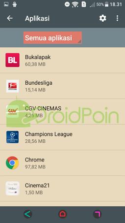 Menghapus Settingan Default Suatu Aplikasi di Android