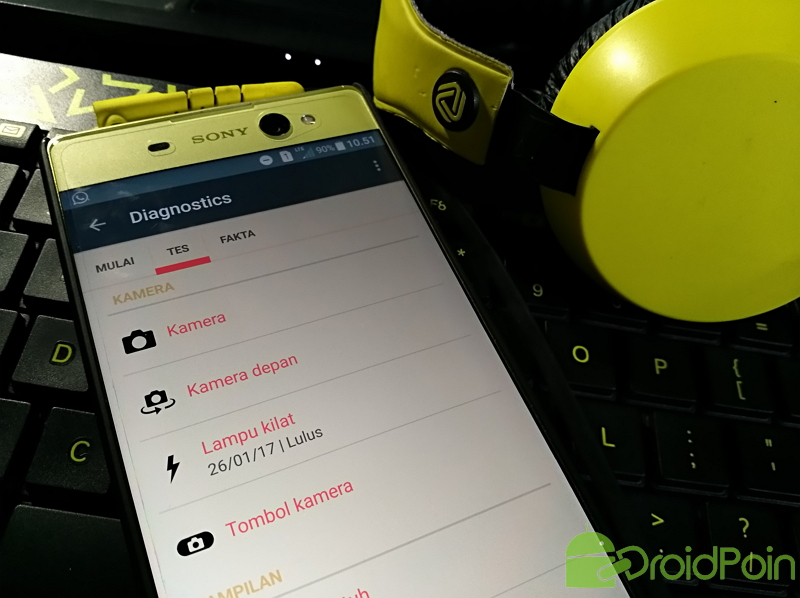 Cara Diagnosa (Test Hardware) Android Sony Xperia | DroidPoin