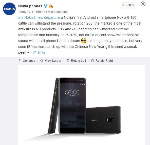 Desain Nokia 6 Diklaim Lulus Standar Militer!