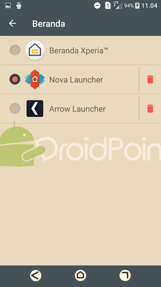 Cara Mengganti Launcher di Sony Xperia
