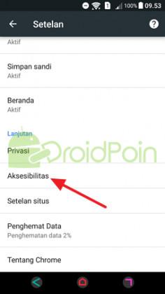 Cara Mengubah Ukuran Font (Huruf) di Chrome Android