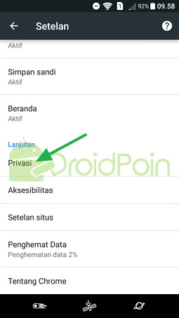 Cara Menghapus Cookie di Chrome (Android)