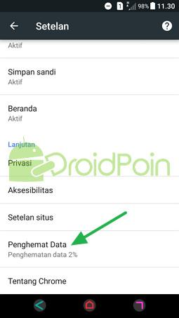Cara Mengaktifkan Penghemat Data di Chrome Android