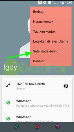 Cara Mengatur Ringtone (Kontak) di Android