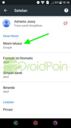 """Cara Mengubah Mesin Pencari """"Search Engine"""" di Chrome Android"""