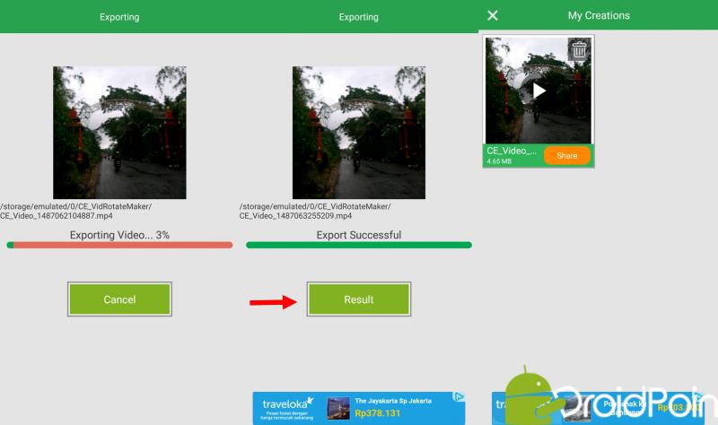 Cara Edit Rotasi Video Di Android Droidpoin