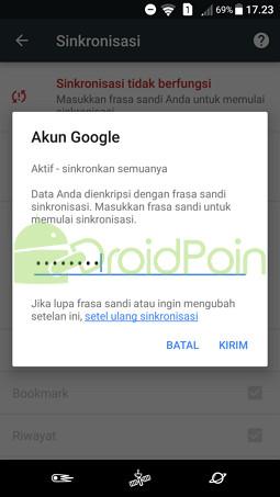 Mengalami Masalah saat Sinkronisasi data Chrome (Android)? Begini Cara Mengatasinya