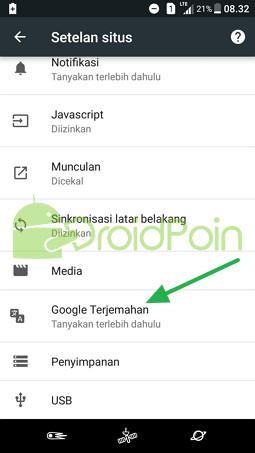 Cara Mengaktifkan / Menonaktifkan Google Translate di Chrome Android