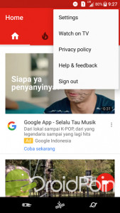 Cara Sign Out dari Aplikasi YouTube Android