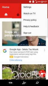 Cara Sign Out dari Aplikasi YouTube Android
