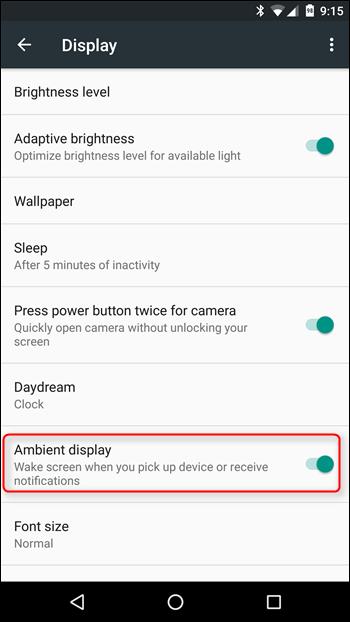 Cara Mengaktifkan / Menonaktifkan Fitur Ambient Display di Android