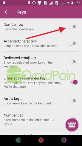 Cara Menambahkan Baris Angka di Keyboard SwiftKey