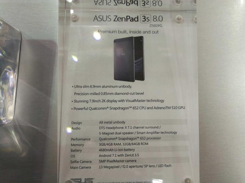 Harga dan Spesifikasi Asus ZenPad 3S (Z582KL)