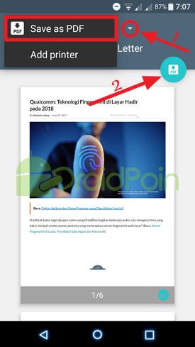 Beginilah Cara Mengubah Halaman Web Menjadi File PDF di Android