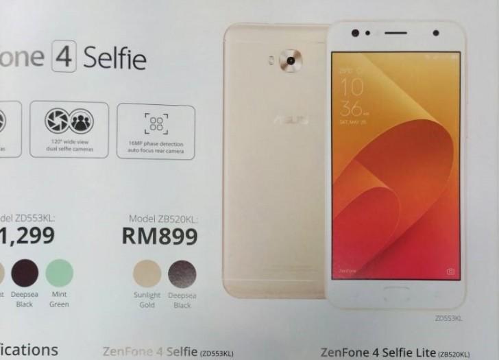 Harga dan Spesifikasi Asus Zenfone 4 Selfie Lite