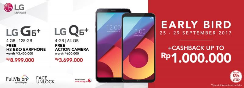 LG Resmi Jual LG G6+ & LG Q6+ di Indonesia, Harganya?