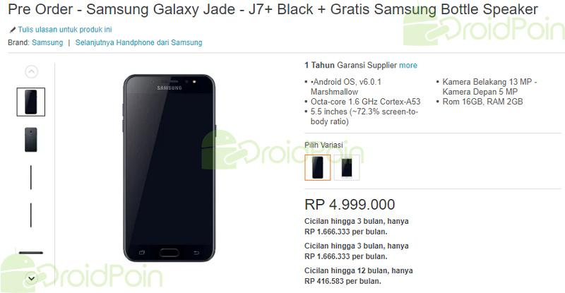 Segera Dijual di Indonesia, Berapa Harga Samsung Galaxy J7+?