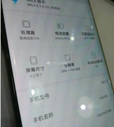 Xiaomi Mi Mix 2 Meluncur pada 11 September 2017, Inilah Bocoran Spesifikasinya
