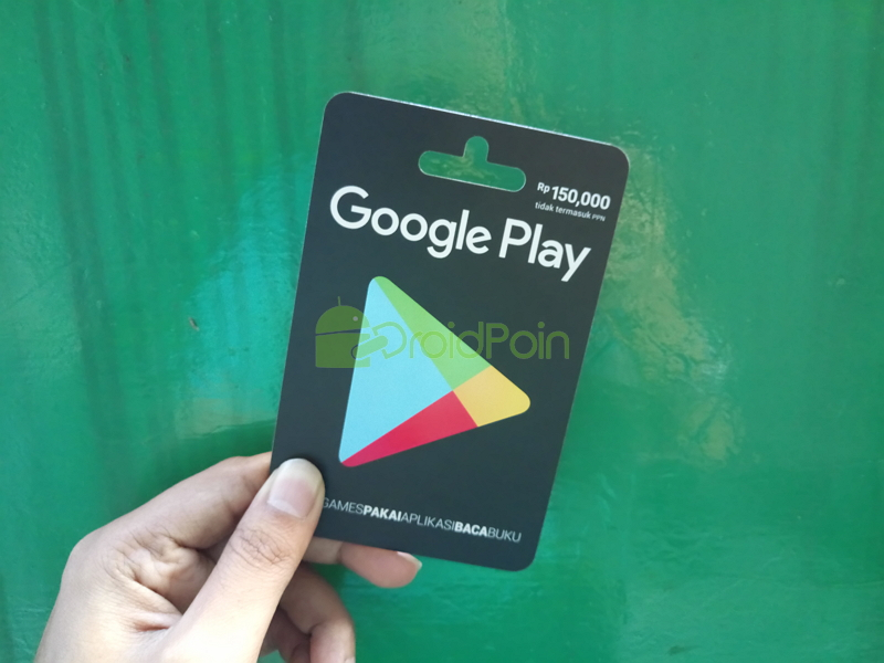 Cara Redeem Google Play Gift Card via Web