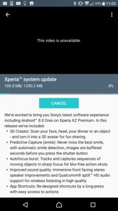 Update Android Oreo untuk Xperia XZ Premium Resmi Tersedia