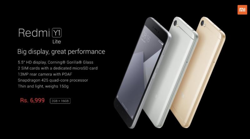 Harga dan Spesifikasi Xiaomi Redmi Y1 Lite