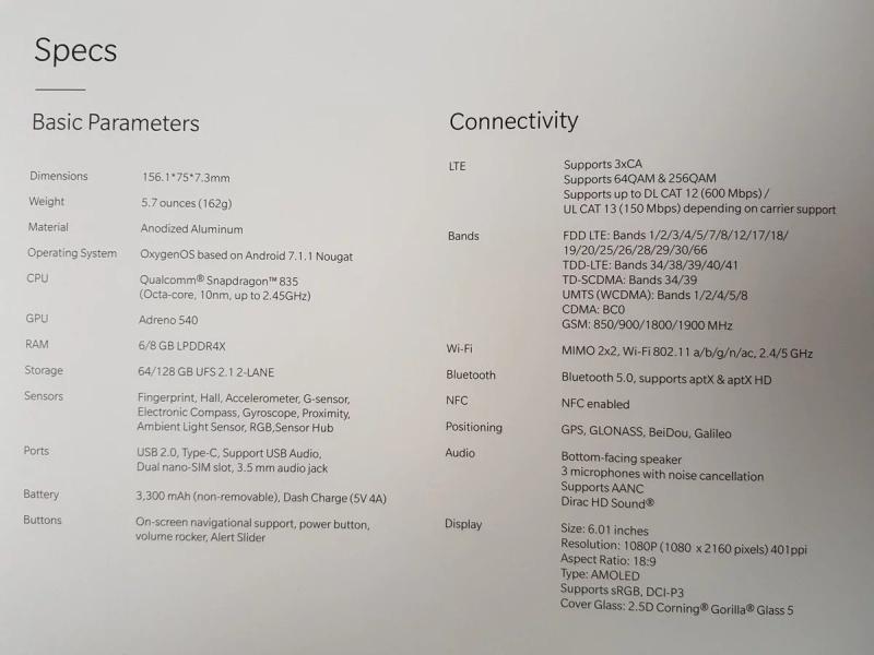 Wujud OnePlus 5T Resmi Terungkap!