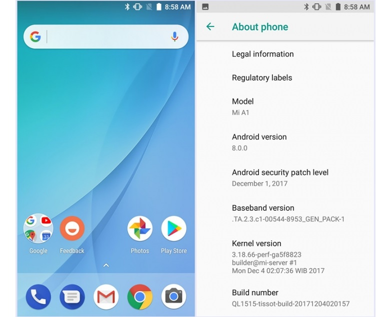 Android Oreo Versi Beta untuk Xiaomi Mi A1 Sudah Tersedia