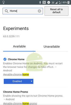 Cara Memindahkan Posisi Address Bar Chrome Android