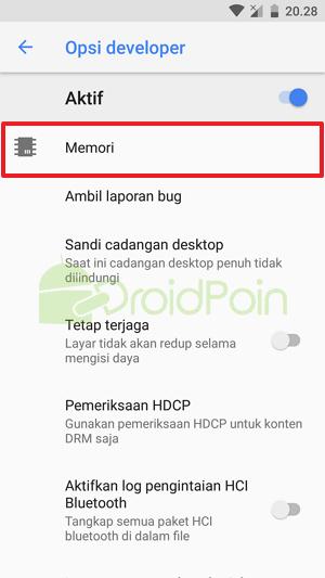 Cara Cek Penggunaan RAM di Android Oreo