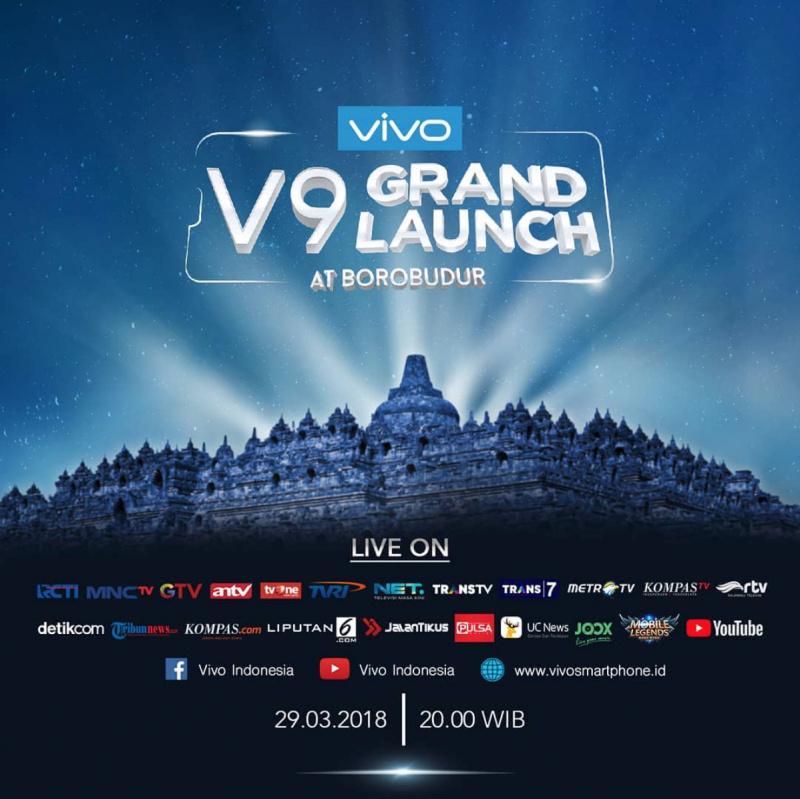 Resmi: Vivo V9 Dirilis 29 Maret 2018 — Live di Borobudur!