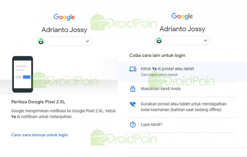 Cara Login Ke Akun Google Tanpa Password Cukup Dengan Ponsel Droidpoin